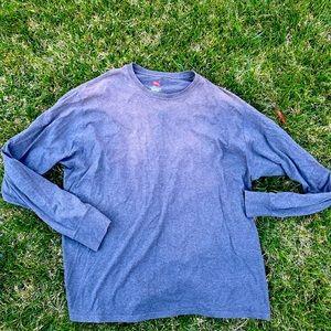 Hanes X temp grey long sleeve sweater top shirt